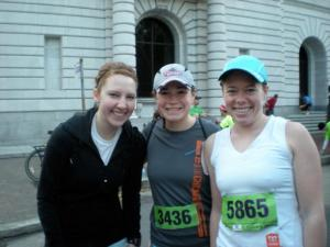 Kelsey, Maureen and Me all ready to go!