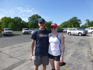 Dad and me after our final legs.