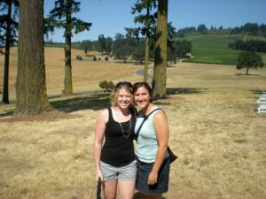 Me and Marie at Stoller Vineyards