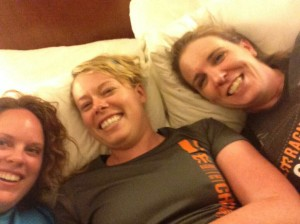 We thought about three of us in a bed...